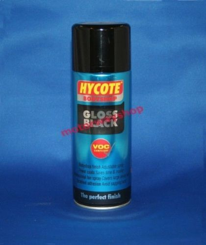 Gloss Black Spray Paint Bodyshop Quality Hycote 400ml